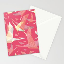 Shadoof, shadoof background pattern, shadoof in flight, wildlife bird Stationery Cards