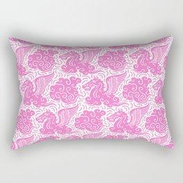 Pegasus Pattern Pink Rectangular Pillow
