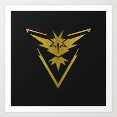 Team Instinct Sparkly yellow gold sparkles Art Print