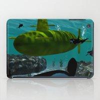 submarine iPad Cases featuring Submarine by nicky2342