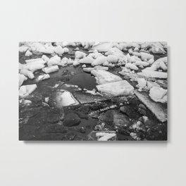 Ice Blocks Metal Print