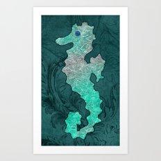 SEAHORSE Art Print