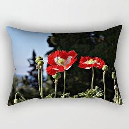 Summer red poppies flowers Rectangular Pillow