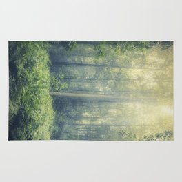 serene woodlands Rug