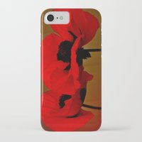 poppies iPhone & iPod Cases featuring POPPIES by Teresa Chipperfield Studios