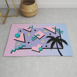 Memphis Pattern 25 - Miami Vice / 80s Retro / Palm Tree Rug