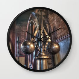Steam engine governors - colour Wall Clock