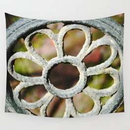 Metalic Flower Wall Tapestry