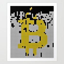bitcoin tetris Art Print