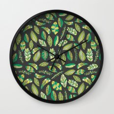 Night Tropical Jungle Wall Clock