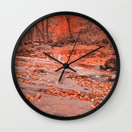 Ruby Hollow Whirlpool Wall Clock