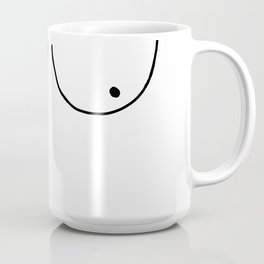 b&w boobs Coffee Mug