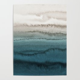 WITHIN THE TIDES - CRASHING WAVES TEAL Poster