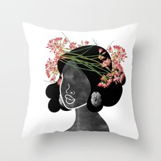 Wildflower Crown III Throw Pillow