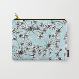Contemporary Cow Parsley  Carry-All Pouch