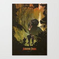 Dinosaur Poster Canvas Print