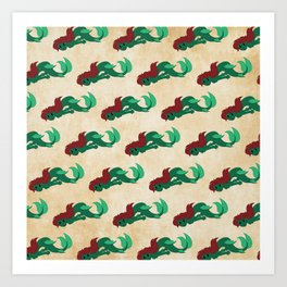 Mermaid Pattern Art Print