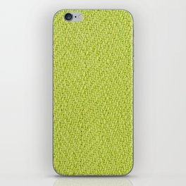 Bright green knitted fabric cloth texture iPhone Skin