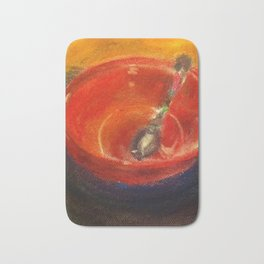 Red Bowl Bath Mat