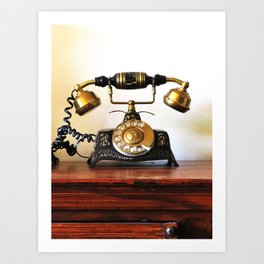 Wating for that call forever Art Print