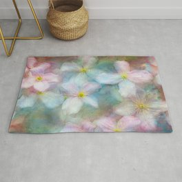 Clematis commotion Rug