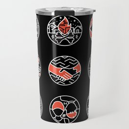 blurry icons II Travel Mug