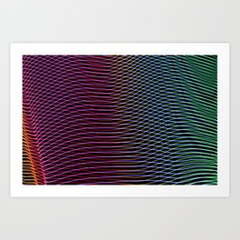 lines and patterns wing light painting Art Print