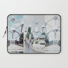 Brussels Atomium Photo Collage Laptop Sleeve