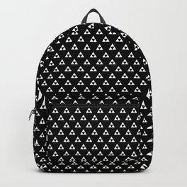 Triforce (White on Black) Backpack