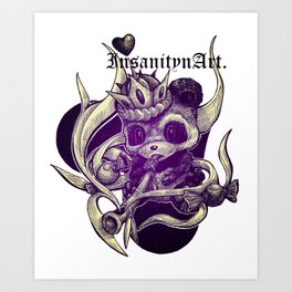 InsanitynArt's The True King of Hearts Art Print