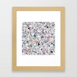 Geometricly Speaking Framed Art Print