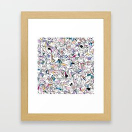 Geometricly Speaking Framed Art Print