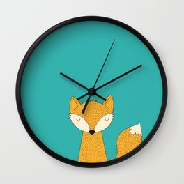 The Fox is back Wall Clock