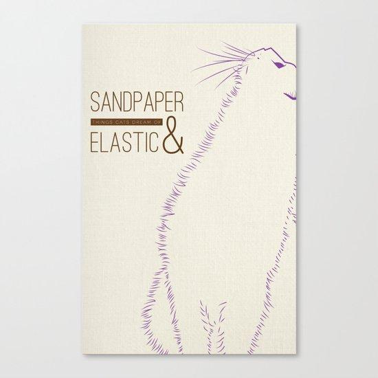 Sandpaper & Elastic  Canvas Print