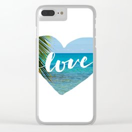 Gotta Love That View - Tropical Paradise Clear iPhone Case