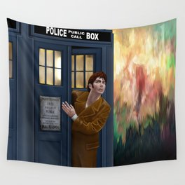 10th Doctor Shockface Wall Tapestry