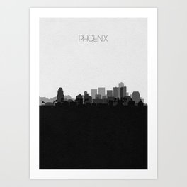 City Skylines: Phoenix Art Print