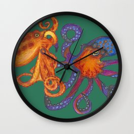 Two Octopodes Wall Clock