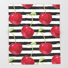Cherry pattern Throw Blanket