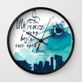 The Lunar Chronicles Quote Wall Clock