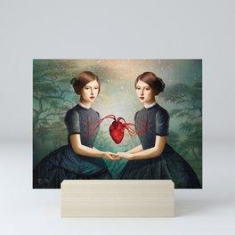 Twin Heart Mini Art Print