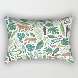 Jungle/Tropical Pattern Rectangular Pillow