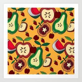 fruit salad Art Print