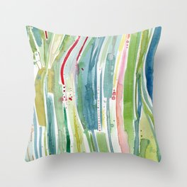 Something Happened in the Kelp Forest Throw Pillow