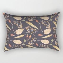 Rustic gray brown Autumn colors floral Rectangular Pillow