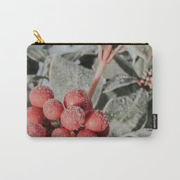 Frosty Red Berries Photo   Winter Plantlife Photography   Plant With Red Berries In Winter Carry-All Pouch