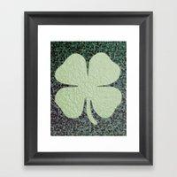 Lucky Clover Framed Art Print