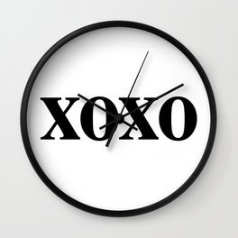 Black XOXO Wall Clock