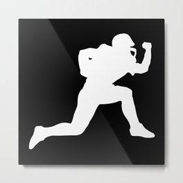Classic American Football Pattern Silhouettes II Metal Print