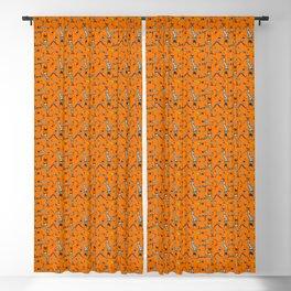 Upside down pattern (in orange) Blackout Curtain